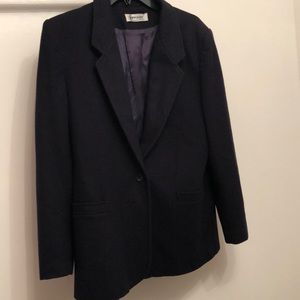 Vintage Navy Blue Blazer w/pockets